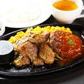料理メニュー写真≪BEEF100%≫ハンバーグ&ジンギスカンセット