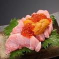 ぼんてん漁港 勾当台店では本マグロやウニ、イクラなどをたっぷり使用した一皿もございます!新鮮でおいしい海鮮料理をご賞味あれ!!