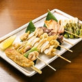 料理メニュー写真焼き鳥串8点盛
