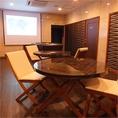 プロジェクター完備の個室