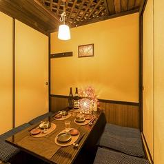 【4~6個室】4名様からご利用できる個室もご用意しております。落ち着いた空間でごゆっくりお寛ぎください。(川崎 個室 居酒屋 地鶏 飲み放題 宴会 接待 女子会 誕生日 記念日)