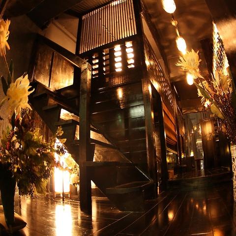 旬の炭火焼と創作和食など秘密基地の様な大人たちの隠れ家で楽しいひとときを。