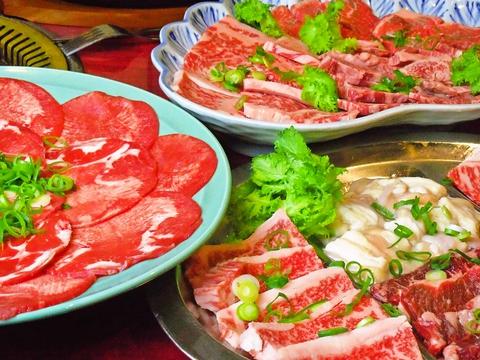 宮崎牛を秘伝の手作りたれで食べられるお店。メニューも豊富でリピーターも多数。