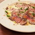 料理メニュー写真BBQローストビーフのカルパッチョ