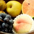 そしてフルーツも完熟のみずみずしいフルーツばかり♪これを季節のフルーツカクテルでご堪能ください!!