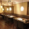 落ち着いてお食事をお楽しみ頂ける情緒あふれる和空間★人数によってお席をアレンジできます。