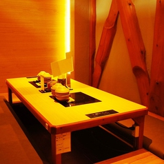 個室風お席。親しい人とのお食事会・記念日・デートなど、幅広くご利用ください。