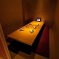 【8名席】合コンや女子会などにも最適な8名様でお座り頂けル掘り炬燵式のお席です。ゆったりと寛いでお食事をお楽しみいただけるプライベートな空間です。周りを気にせずご利用いただける個室はいつも以上に会話も盛り上がること間違え無し!