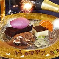 記念日・誕生日にメッセージ&花火付デザートプレゼント