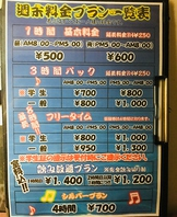 週末(金・土・日・祝・祝前)の料金※すべて税抜価格