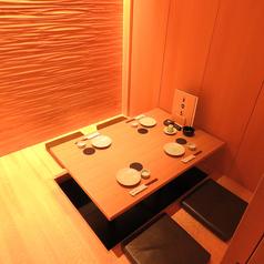 個室のお部屋が7部屋あります。4名様×4、6名様×1、8名様×1、10名様×1。すべて掘りごたつ個室です。つなげて、16名~25名などいろいろな人数に対応できます。