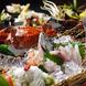 魚につや有、旬の色有、料理に華有、宴に楽有