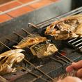 〈焼くなら炭火に限る!〉 厳選魚介は焼いても美味い。特に、表面を素早く焼いて旨みを逃さない「炭火焼き」は別格です。一口食べれば食材の旨味はジュワっと溢れだします♪塩焼きはもちろん、西京焼き、酒粕焼き…など、様々な調理法でお届けします◎