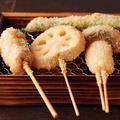 料理メニュー写真串揚げ盛り8種