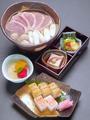 料理メニュー写真鴨なんばなにわ寿司セット