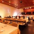 【着席~50名】1フロアのテーブル席は各種宴会に大人気です♪
