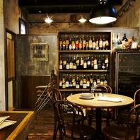常時100種のワインが楽しめる☆ワインに合う料理も豊富!