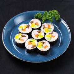 料理メニュー写真ナムルビビンバ/キンパ(韓国のり巻き)