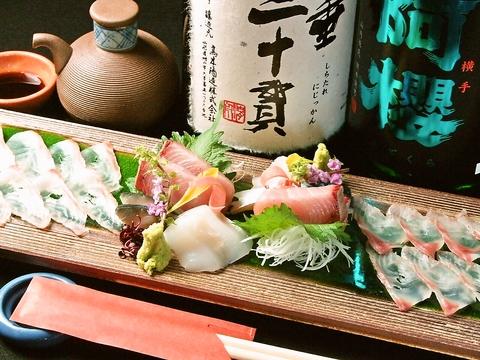駅から1分!日本酒・朝〆鮮魚・季節野菜が売り!日本酒飲み放題が人気です♪