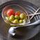 小豆島オリーブとプチトマトのマリネ