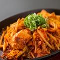 料理メニュー写真若鶏の辛味噌鉄板焼き
