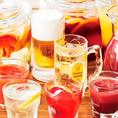 飲み放題メニューも種類豊富にご用意致しております!アルコールも飲めるアルコールドリンクバーでは、ビールやワインはもちろん、オリジナルカクテルも可能◎もちろん飲み放題なのでお好きなものをお愉しみ下さい。