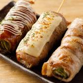 数々のメディアで大注目『野菜串焼き』!1本1本が大きくボリュームもありながら、肉よりも野菜が主役なのでカロリーを気にする女子でも安心して食べられる♪