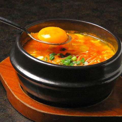 「純豆腐(スンドゥブ)チゲ」