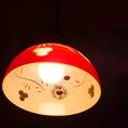 切子調のライトカバーはオシャレの一言。