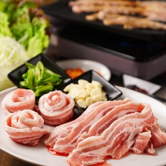 料理メニュー写真フードバイキング付き限定メニュー☆5月からはサムギョプサル♪