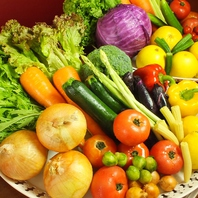 体に優しい旬野菜や厳選野菜を豊富に使用しています♪