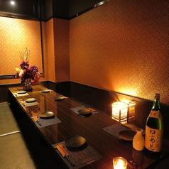 6~8名様に最適な掘りごたつの個室です♪デートやプライベート、合コン、会社宴会、接待に大人気のお席です!