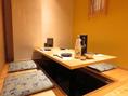 【4/6名様掛けの掘り炬燵式個室。洗練された和空間となっております】