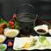料理メニュー写真お野菜付き鯛しゃぶしゃぶセット