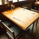 ゆったり寛げる4名様までご利用可能なテーブル席。 落ち着いてお食事やお話しを楽しめます。 女子会、ママ会、飲み会、記念日、誕生日、デート、合コンなどにご利用ください。
