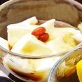 料理メニュー写真黒蜜杏仁豆腐