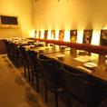 中規模~大規模の宴会にはオススメのテーブル席♪交流会・同窓会結婚式二次会・ウェディング二次会などさまざまなシーンに対応致しますよ★