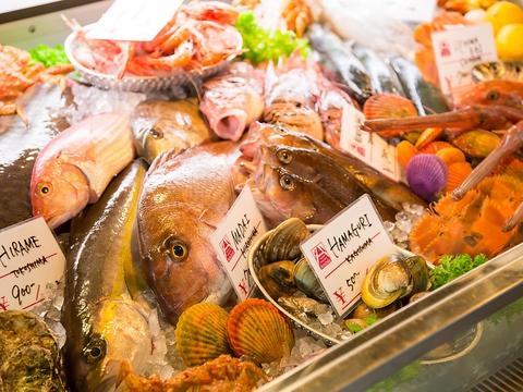 南欧の港町の街角にあるような活気溢れる魚自慢のお店!2時間[飲放]付コース4000円★
