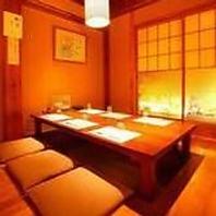 個室でゆったり、美味しいお食事とともにお過ごし下さい