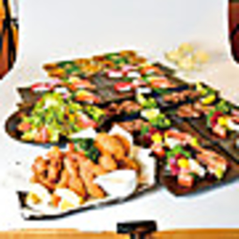 【飲み放題付】★にぎわいコース★3500円♪カキフライなどの揚物や牛タン塩焼きなど全7品◎