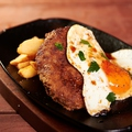 料理メニュー写真鉄板Eggハンバーグ