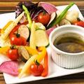 料理メニュー写真彩り野菜のバーニャカウダ-イタリア最古のソース-