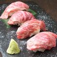 大人気の仙台牛寿司が、池袋でお楽しみいただけます!女子会や会社帰りの一杯のお供に是非、絶品仙台牛寿司を堪能くださいませ!