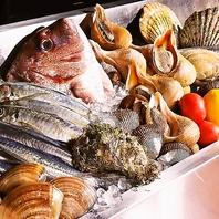 鮮度抜群!! 地産地消の海の幸、山の幸の食材の数々。