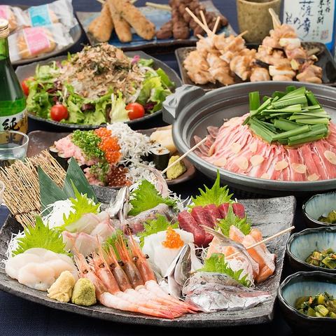 和風の心和む雰囲気。新鮮な魚とおいしい地酒をご堪能ください♪コースは1900円~☆