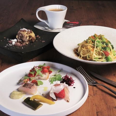 【ランチのご予約はこちらから】『ランチB』前菜盛合せ・本日のパスタ・ドリンク2000円