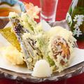 料理メニュー写真野菜天の盛合わせ