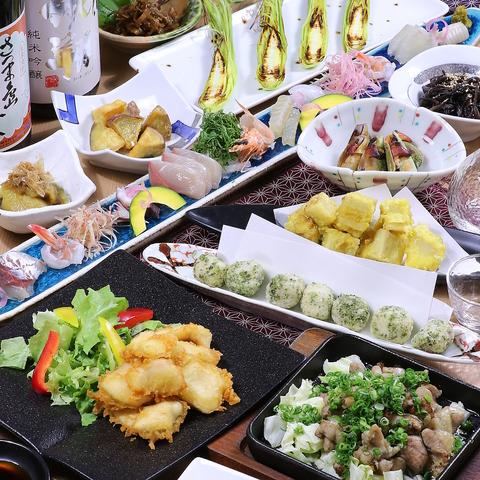 ≪日本酒もOK♪2H飲み放題付≫【地鶏ももの炭焼き&鶏のタタキ盛り】コース4500円