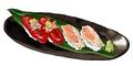 料理メニュー写真肉寿司(馬刺しと鶏わさ)