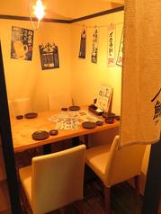2~4名におすすめのテーブル個室も豊富にご用意!6名用・8名用個室も有り!!